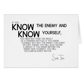 Cartão CITAÇÕES: Sun Tzu: Estratégia militar suprema