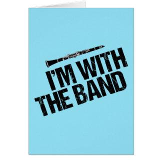 Cartão Clarinete engraçado eu sou com a banda
