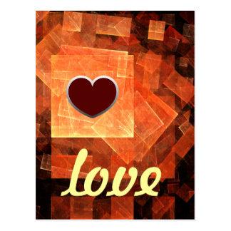 Cartão claro do amor da janela