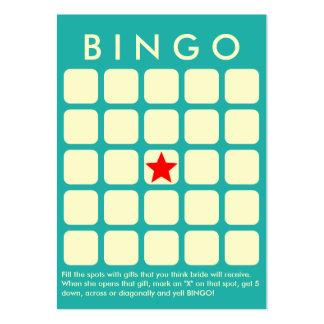 Cartão claro do Bingo do chá de panela do verde de Cartão De Visita Grande