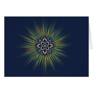 Cartão claro do solstício de inverno da mandala da