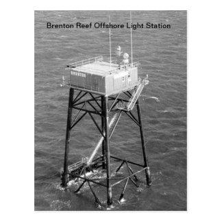 Cartão claros a pouca distância do mar da estação