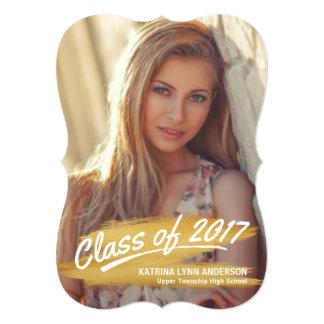 Cartão Classe 2017 da foto da graduação - curso da escova