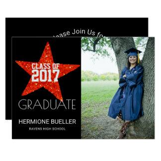 Cartão Classe 2017 de festa de formatura da foto da