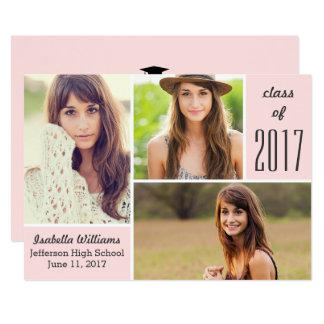 Cartão Classe cor-de-rosa na moda da colagem 2017 da foto