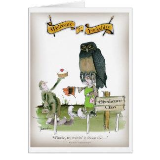 Cartão classe da obediência de yorkshire do amor