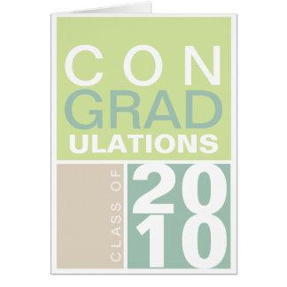 Cartão Classe das felicitações de taupe do verde do ano