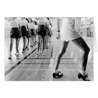 Cartão Classe de dança da torneira, 1942