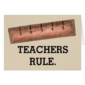 Cartão Classe de madeira da régua da educação escolar da