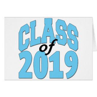 Cartão Classe do azul 2019
