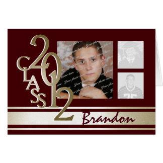 Cartão Classe do obrigado 2012 da graduação você