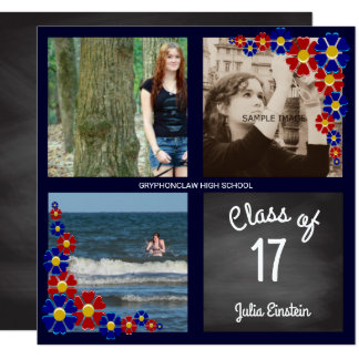 Cartão Classe do quadro de festa de formatura da foto de