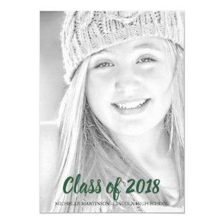 Cartão Classe dos anúncios 2018 da foto da graduação