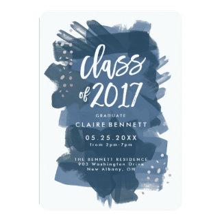Cartão Classe graduada pintada da graduação 2017