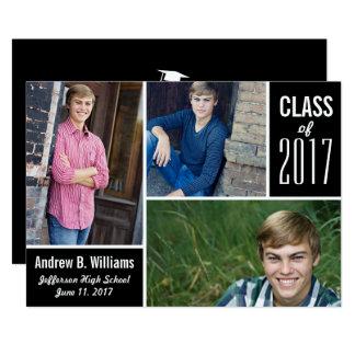Cartão Classe moderna da colagem da foto da graduação de