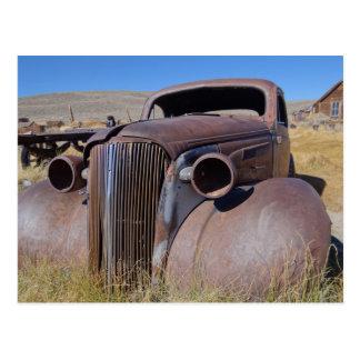 Cartão clássico da foto do carro da cidade