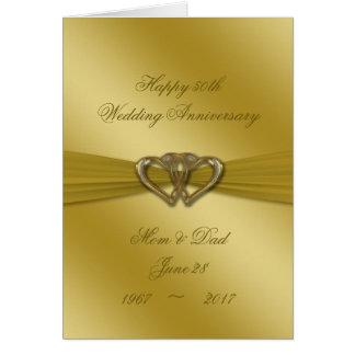 Cartão clássico do aniversário de casamento do