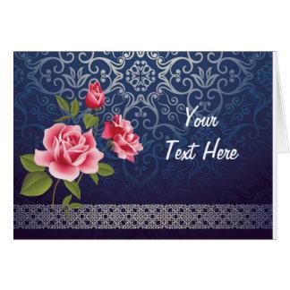 Cartão clássico do azul do vintage