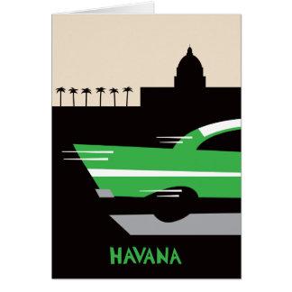 Cartão clássico do carro de Havana