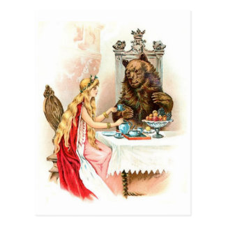 Cartão clássico do livro de histórias do vintage