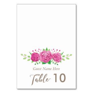 Cartão clássico do lugar da escolta do casamento