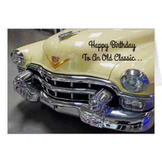Cartão clássico do lustre do carro do feliz