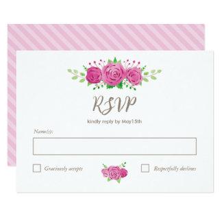 Cartão clássico do Rosiness RSVP Convite 8.89 X 12.7cm