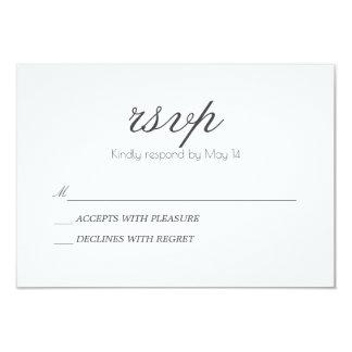 Cartão clássico & romântico de | RSVP Convite 8.89 X 12.7cm