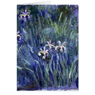 Cartão Claude Monet: Íris