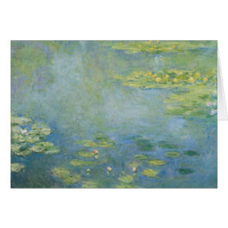 Cartão Claude Monet - Waterlilies
