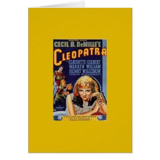 Cartão Cleopatra Claudette 1934 Colbert