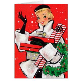 Cartão Cliente do Natal do anos 50