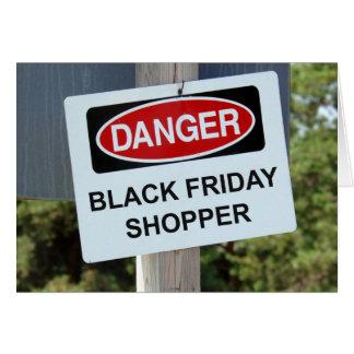 Cartão Cliente preto de sexta-feira do perigo