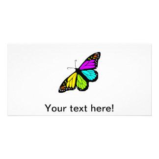 Cartão Clipart colorido da borboleta