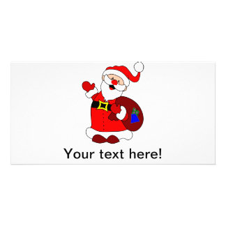 Cartão Clipart do saco de Papai Noel e de presente