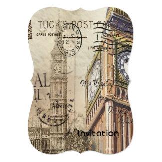 Cartão Clocktower ben grande de Grâ Bretanha Inglaterra