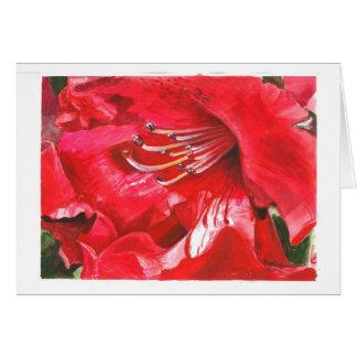 Cartão Close up do rododendro
