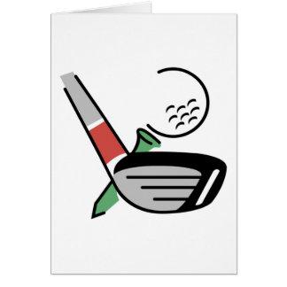 Cartão Clube de golfe, bola, e t-shirt e presentes do T