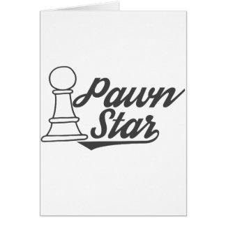 Cartão clube de xadrez da estrela do penhor