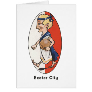 Cartão Clube do futebol da cidade de Exeter
