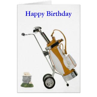 Cartão clube e bolas, feliz aniversario