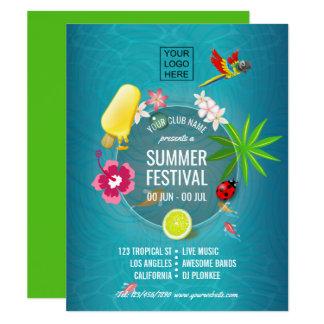 Cartão Clube/propaganda incorporada do festival do verão