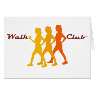 Cartão Clube retro da caminhada