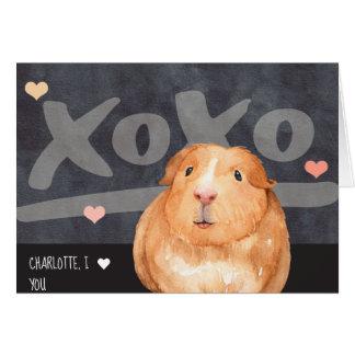 Cartão Cobaia bonito dia dos namorados personalizado