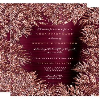 Cartão Cobre cor-de-rosa Burgund do ouro do quadro