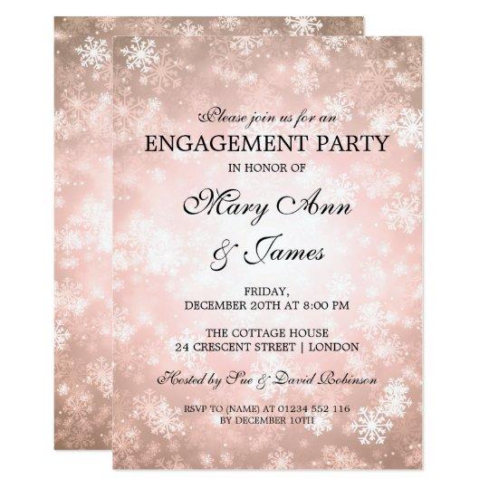 Cartão Cobre elegante da festa de noivado do país das