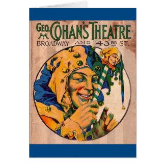 Cartão cobrir do playbill do teatro de Cohan do 1920