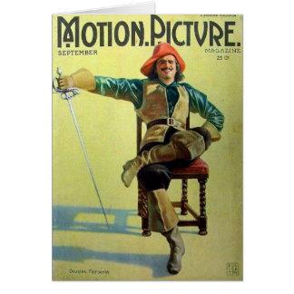 Cartão Cobrir dos mosqueteiros de Douglas Fairbanks três