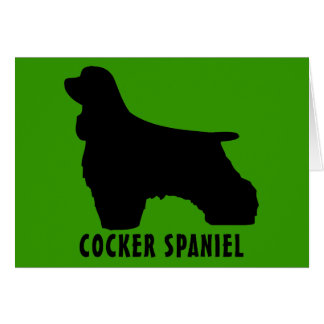 Cartão Cocker spaniel