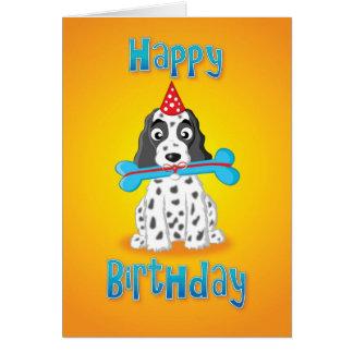 Cartão cocker spaniel - presente - feliz aniversario